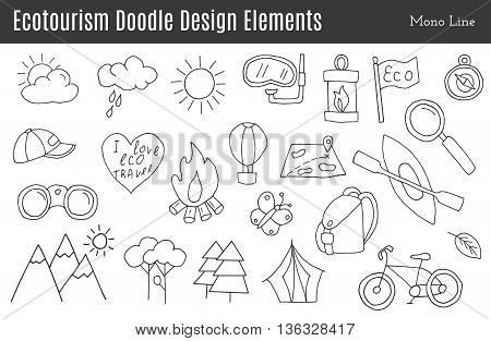 Vector Ecotourism Design Elements Isolated