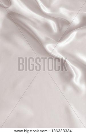 Smooth Elegant Golden Silk Or Satin As Wedding Background. In Sepia Toned. Retro Style