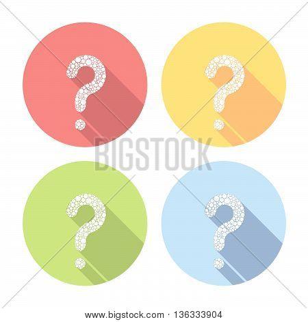 Question Mark Flat Icons Set