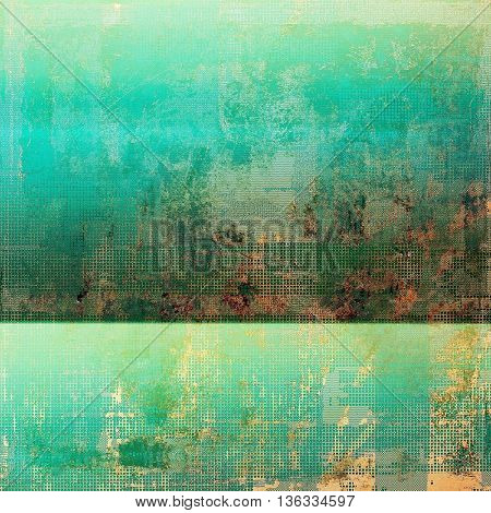 Vintage aged texture, old scratched background. With different color patterns: yellow (beige); brown; green; blue; red (orange); cyan
