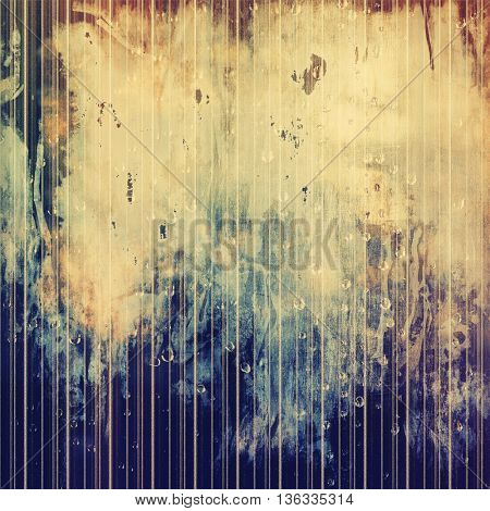 Old school background or texture with vintage style grunge elements and different color patterns: yellow (beige); brown; gray; blue; purple (violet)