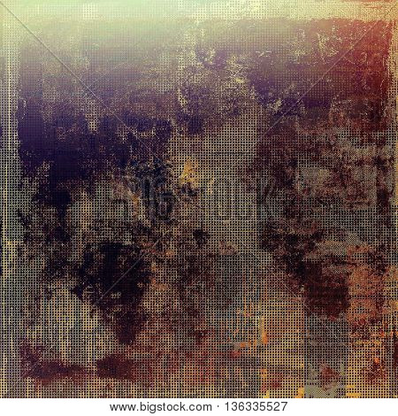 Art grungy texture, aged background with retro feeling. With different color patterns: yellow (beige); brown; gray; red (orange); purple (violet); pink