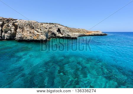 Pirate bay in protaras paralimni immaculate water blue sea and rocks cyprus island