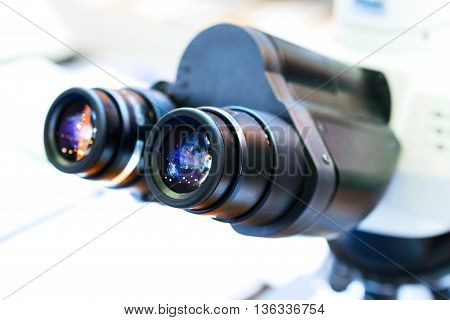 Laboratory Microscope Eyepieces.