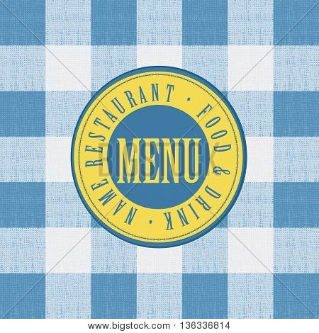 menu for a cafe or restaurant on the background of a checkered tablecloth.