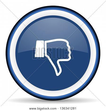 dislike round glossy icon, modern design web element