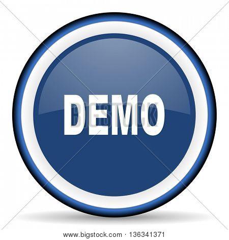 demo round glossy icon, modern design web element