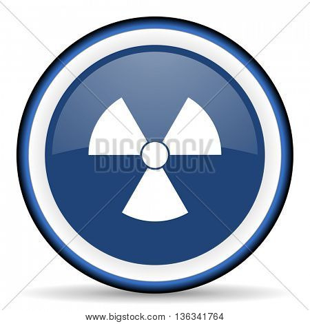 radiation round glossy icon, modern design web element