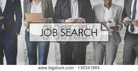 Job Search Seekers Career Applicant Recruitment Concept