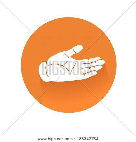 This is an illustration of recieving hand symbol