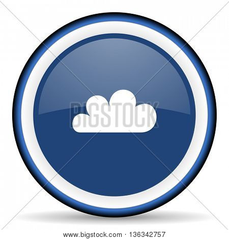 cloud round glossy icon, modern design web element