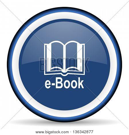book round glossy icon, modern design web element