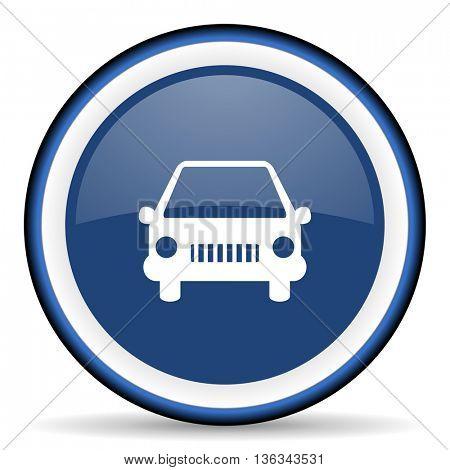 car round glossy icon, modern design web element