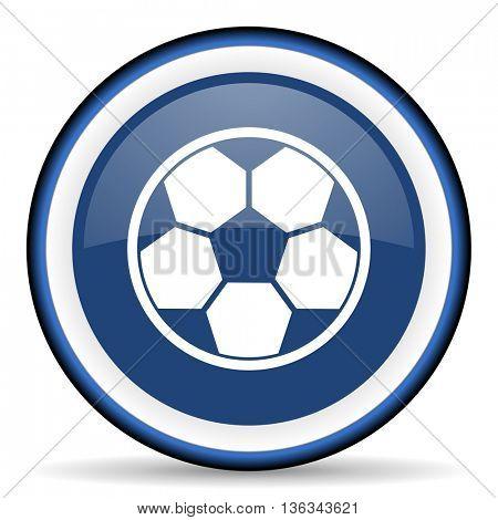 soccer round glossy icon, modern design web element