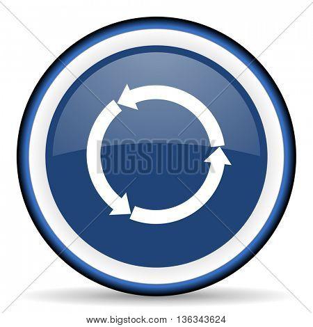refresh round glossy icon, modern design web element