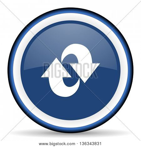 rotation round glossy icon, modern design web element