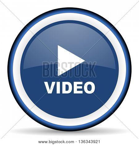 video round glossy icon, modern design web element