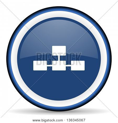 database round glossy icon, modern design web element