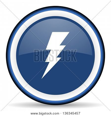 bolt round glossy icon, modern design web element