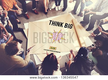 Think Big Positive Thinking Inspiration Attitude Concept