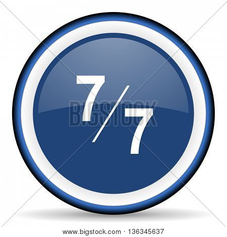 7 per 7 round glossy icon, modern design web element