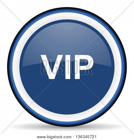vip round glossy icon, modern design web element