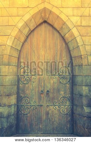 Antique door retro style ( Filtered image processed vintage effect. )
