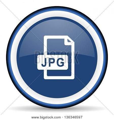 jpg file round glossy icon, modern design web element