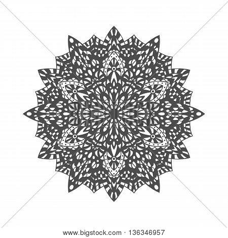 Mandala. Decorative ornament element pattern. Hand drawn ethnic tribal background template
