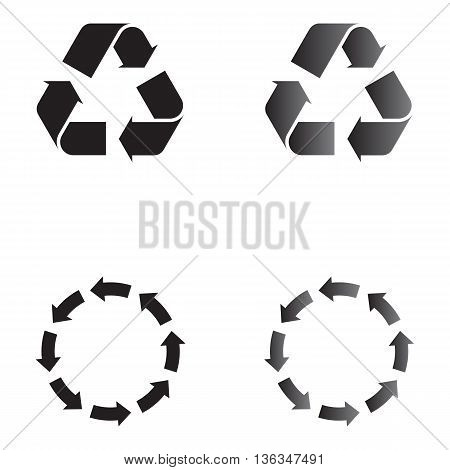 Recycling icon isolated protection backgrounds sparse conservation