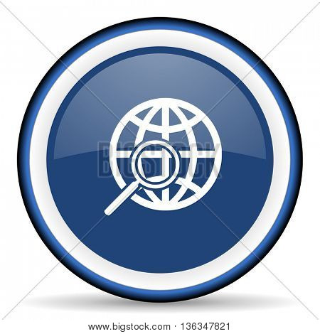 search round glossy icon, modern design web element