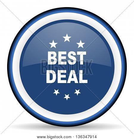 best deal round glossy icon, modern design web element
