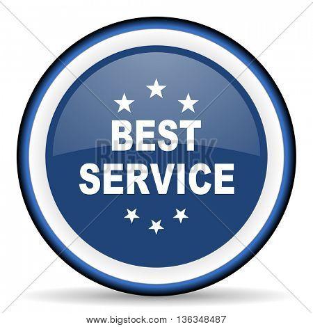 best service round glossy icon, modern design web element