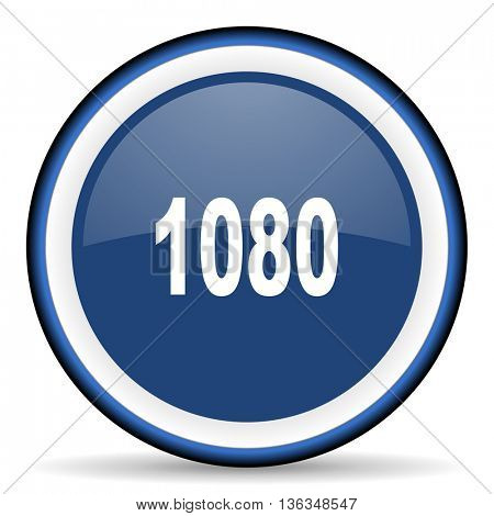 1080 round glossy icon, modern design web element