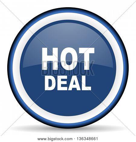 hot deal round glossy icon, modern design web element