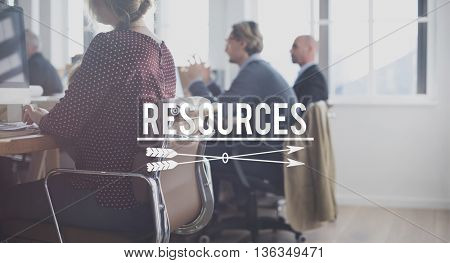 Resources Management Manpower Business Career Concept