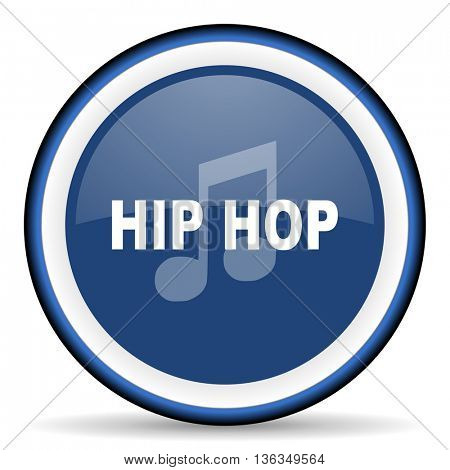 hip hop round glossy icon, modern design web element