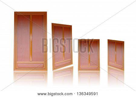 Door wooden door ancient door isolated on white background