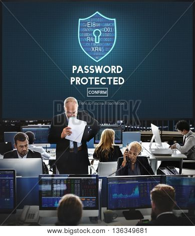 Password Protected Privacy Safety Private Concept