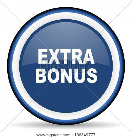 extra bonus round glossy icon, modern design web element
