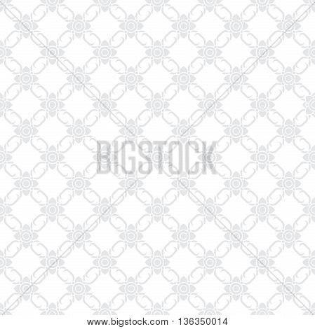 seamless Thai floral pattern backdrop for decoration texture and background vector