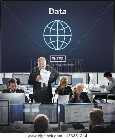 Data Online Technology Internet Global World Concept