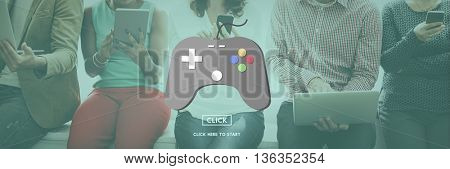 Gaming Play Controller Media Concept