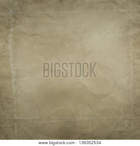 Old stained and crumpled paper background. Old paper texture.