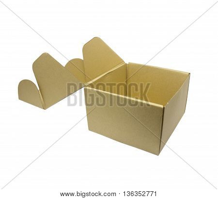 carton box isolated on white background texyure