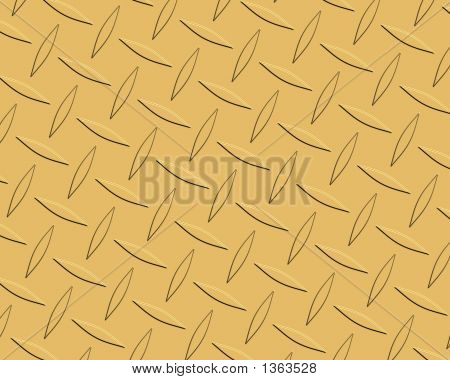 Diamond Plate Gold Long Tapered