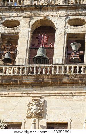Cordoba - Spain - June 10, 2016 : Old Torre Del Alminar Bell Tower Mezquita Cordoba Andalusia Spain.
