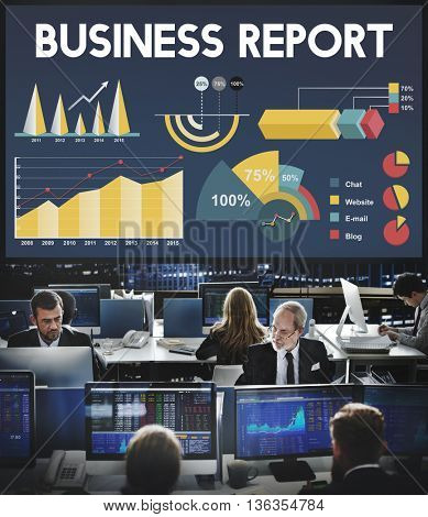 Business Report Percentage Business Chart Concept