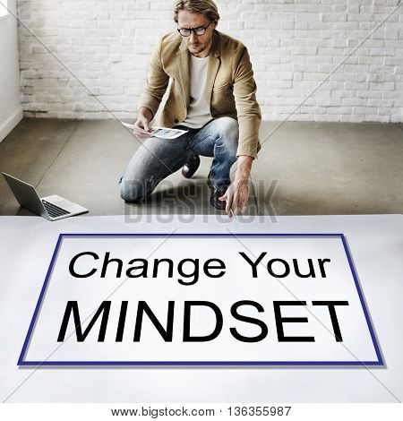 Change Your Mindset Attitude Focus Optimistic Concept