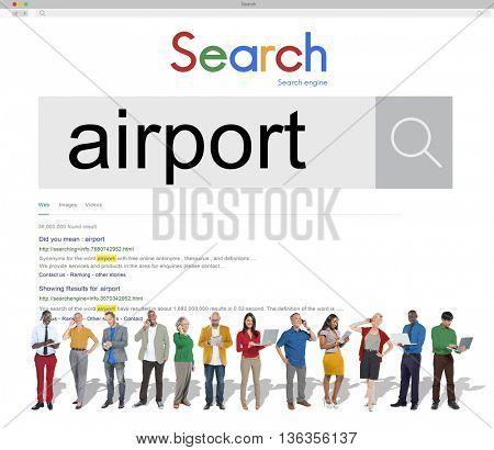 Airport Airplane Flight Destination Concept